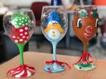 Christmas 2018 wine glasses